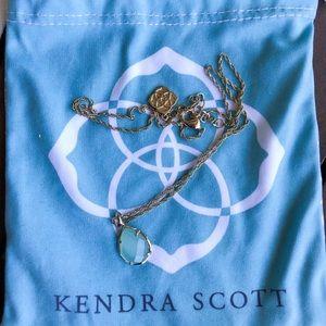 KENDRA SCOTT mint tear drop necklace